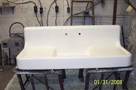 chic kitchen tub sinks real porcelain enamel coating to restore