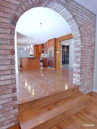 brick arch house traditional family
