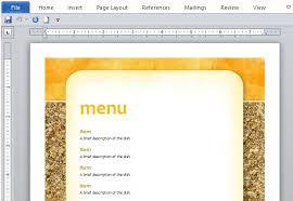 Ms Word Menu Templates How To Create Printable Menus In Microsoft Word