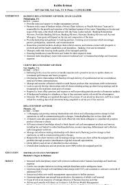 Ra Resume Relationship Advisor Resume Samples Velvet Jobs 24