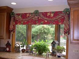 Red Swag Kitchen Curtains Swag Curtains Cheap Free Image