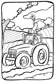 Coloriage Tracteur Les Beaux Dessins De Transport Imprimer Et