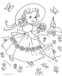 Small Picture Easter Dress Coloring Page