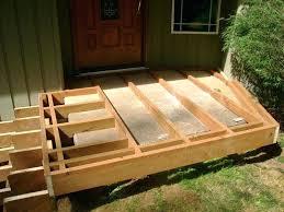 build a deck over concrete floating framing over concrete steps more making concrete deck footings build a deck over concrete