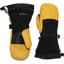 Gordini The Polar Leather Down Mittens Waterproof Insulated For Men