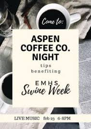 We roast it fresh and pamper it all the way to the cup. Swine Week Aspen Night