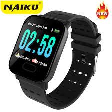 NAIKU <b>A6 Smart Watch Heart</b> Rate Monitor Sport Fitness Tracker ...