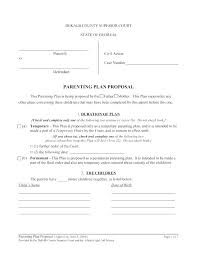Co Parenting Agreement Example New Joint Custody Template Bc