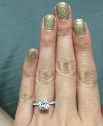 1 carat diamond size a one carat diamond on a size 2 or a size 10 finger mysparkly com