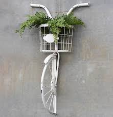 antique white bike and basket wall decor on metal bike with basket wall decor with antique white bike and basket wall decor farmhouse fresh home