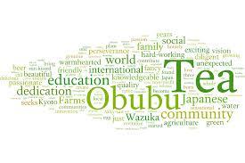fancy word for green obubu word cloud kyoto obubu tea farms