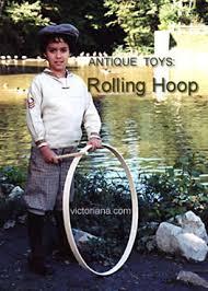 Wooden Hoop Game Victorian Toys Trundling a Hoop 9