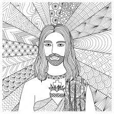 Zentangle Gestileerde Van Jezus Christus Voor Het Boek T Shirt