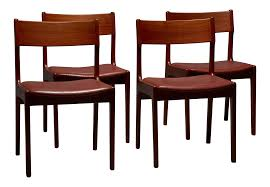 dining chairs set of 4. Danish Teak \u0026 Leather Dining Chairs - Set Of 4