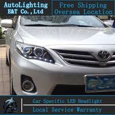 Car styling LED Head Lamp for Toyota Corolla led headlights 2011 ...
