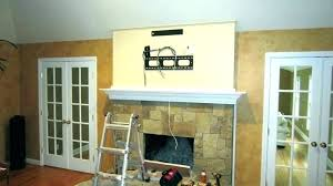 installing tv above fireplace install over stone fireplace mounting flat screen above s hang tv above