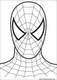 Disegni Per Dipingere Colour Spiderman Stampare Realizzazione 008