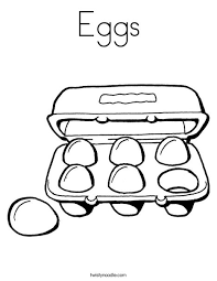 Eggs Coloring Page Twisty Noodle