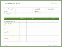 Workshop Agenda Template Microsoft Word Best Of Free