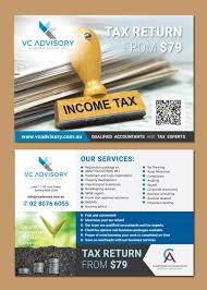 Tax Flyer Design Modern Colorful Accounting Flyer Design For Vc Advisory