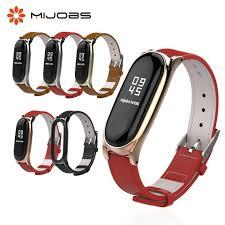 <b>Mijobs Mi Band 4</b> Genuine Leather Strap for Xiaomi Mi Band 3 ...