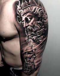 Neptune Sailing Ship Sleeve Best Tattoo Design Ideas