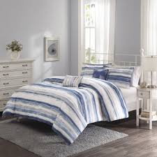 linen duvet cover striped bedding blue and white navy bedsp baby il