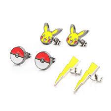 Pokemon Pikachu Lightning Bolt Poke Ball Earrings 3-Pack- Buy Online in  Faroe Islands at faroe.desertcart.com. ProductId : 34030238.