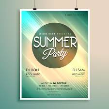 Summer Music Party Flyer Template With Event Details Download Free