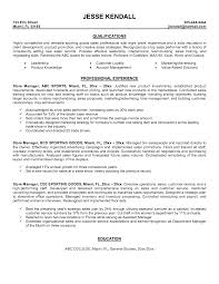 Store Manager Resume Examples Examples Of Resumes