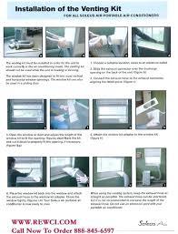 portable air conditioner vent kit sliding door