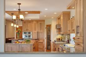 Small Picture natural hickory kitchen cabinets light color shade kitchen design