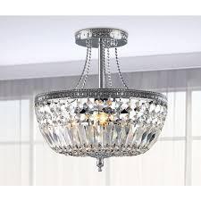 jessica crystal basket semi flush mount chrome light chandelier