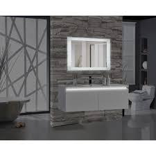 Bathroom mirrors Farmhouse Rectangular Led Illuminated Bathroom Mirrormtd10148 The Home Depot Designrulz Encore 48 In 27 In Rectangular Led Illuminated Bathroom