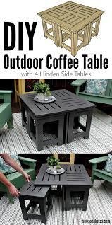 diy outdoor coffee table unique