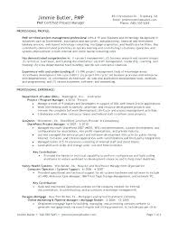 Best Project Manager Resume Samples Management Examples Sample Doc