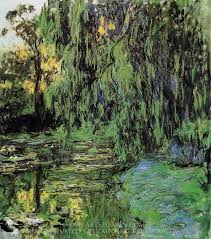 claude monet weeping willow and water lily pond oil painting reion