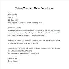 Cover Letter Veterinarian Resume Bank