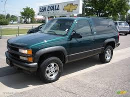 1999 Emerald Green Metallic Chevrolet Tahoe Sport 4x4 #10676145 ...