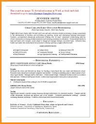 8 Daycare Resume Samples Fillin Resume