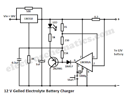 12v gelled electrolyte battery charger 12v gelled electrolyte battery charger circuit schematic