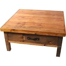 Black Mountain Drawer Square Coffee Table Rustic Cabin Lodge Coffee  Cocktail (Image 1 Of 10