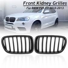 <b>1 Pair Matte</b> Black ABS Front Bumper Kidney Grilles for BMW F25 ...