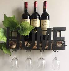 wine rack with used wine corks storage