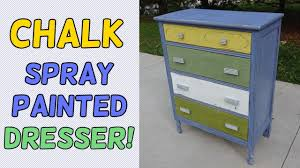 Chalk Spray Paint Dresser Makeover
