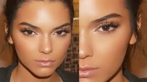 kendall jenner glowing skin spring makeup tutorial 2016