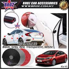 broz kia k3 door edge guard protector anti scratch collision rubber strip 16ft 5m