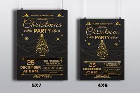 Christmas Template For Word Custom Christmas Invitations Template Christmas Party Flyer Etsy