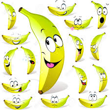 Dessin Anim De Banane Avec De Nombreuses Expressions Isol Es Sur
