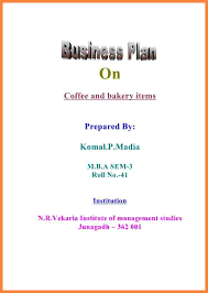 Business Plan Cover Page Cover Page Of Business Plan 11 Msdoti69